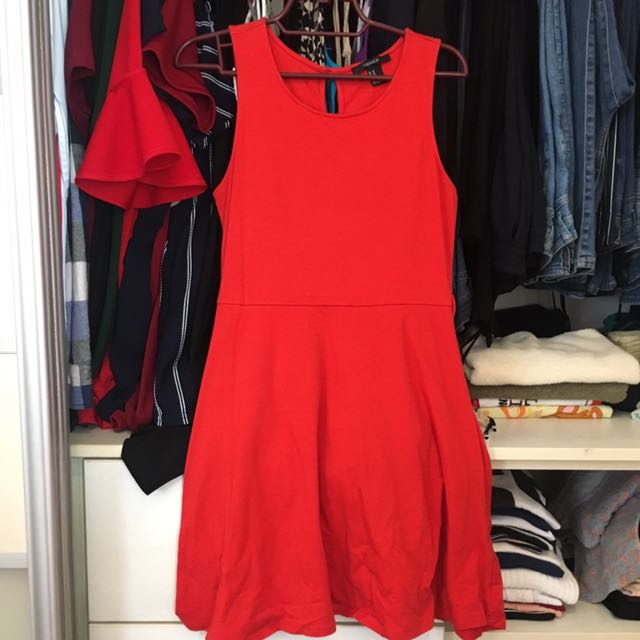 FOREVER 21 Red-orange dress