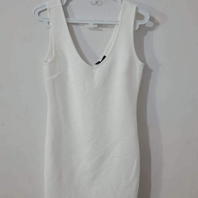 Forever 21 White Fitted Dress