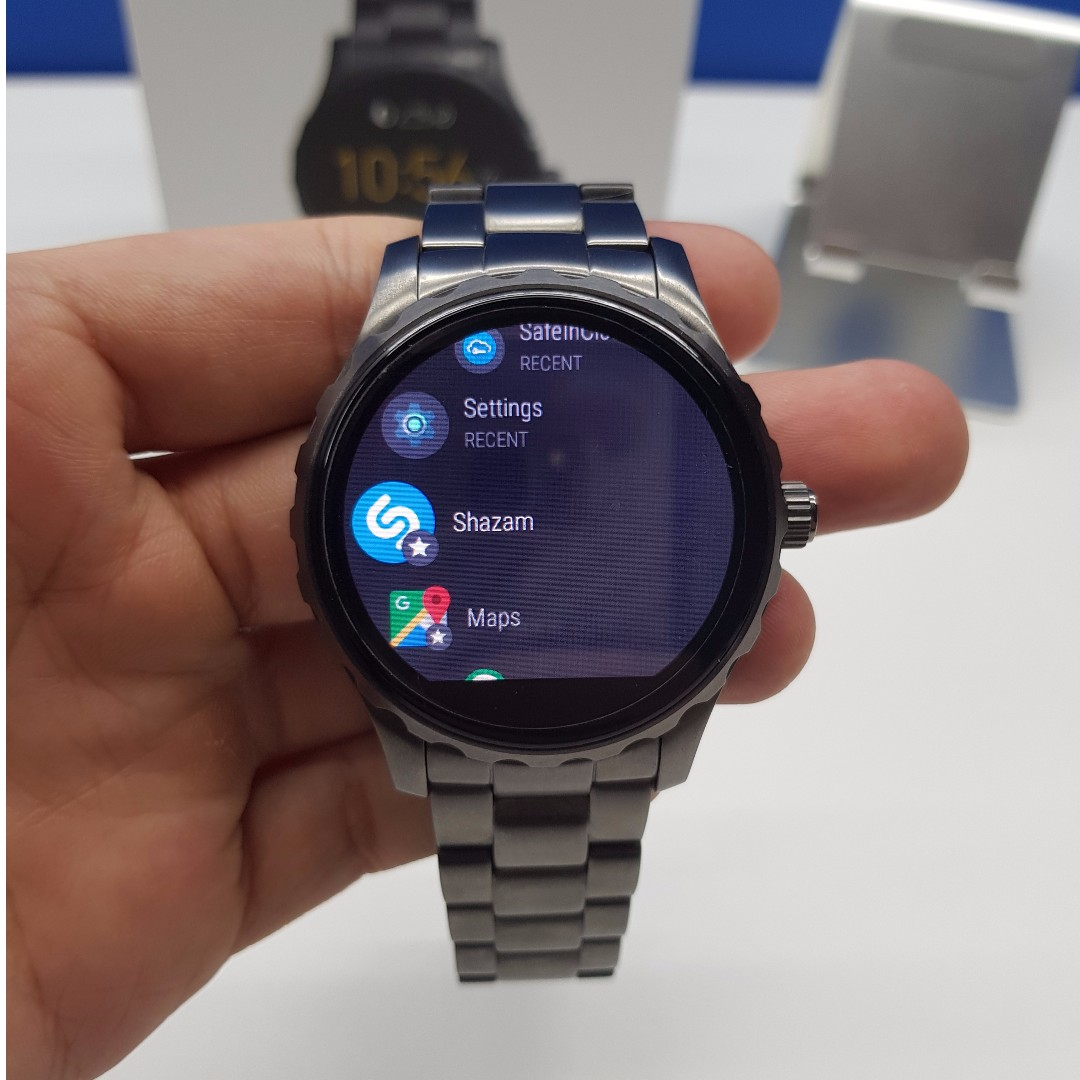 Fossil Q Marshal Smartwatch Stainless Steel Case Electronics Lain Di Carousell