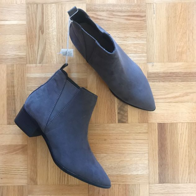 grey ankle booties - size 9 (fit like an 8)