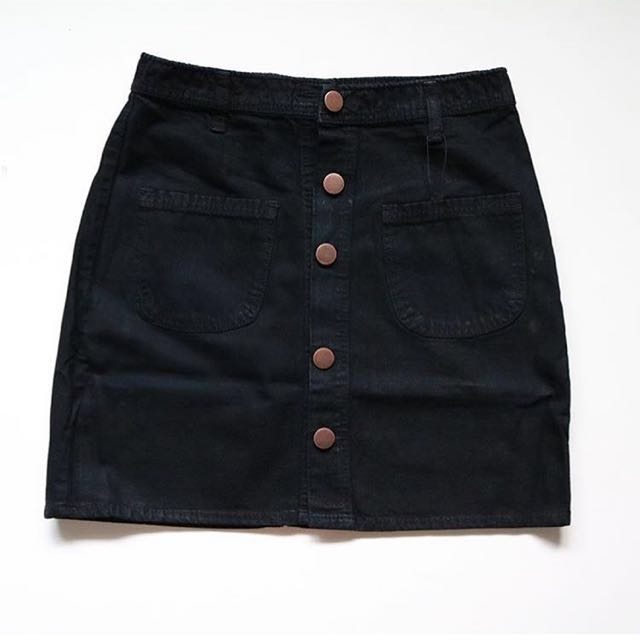 highwaist skirt black