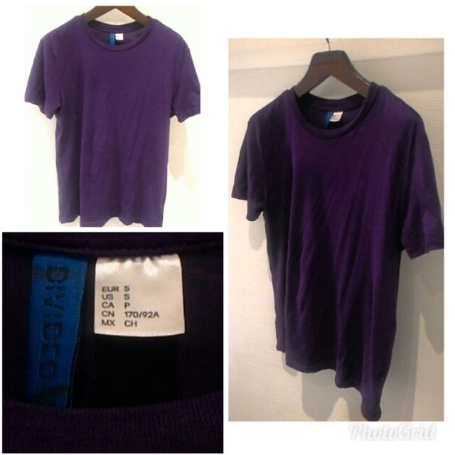 h&m tees size s