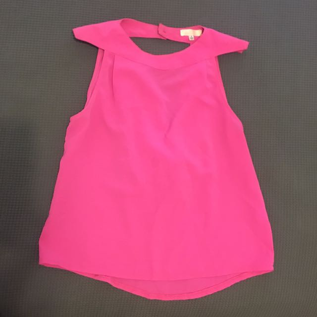 Hot Pink Backless Top