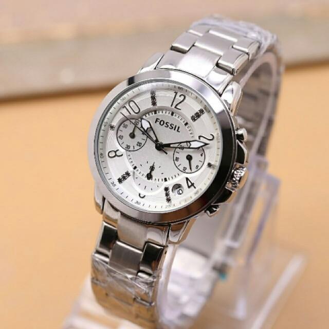 Jam tangan Fossil crobograf super model Mewah elegant