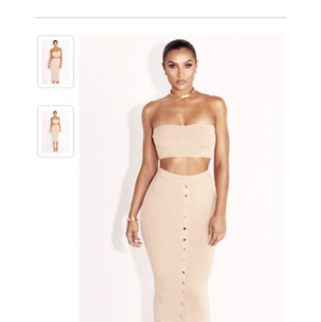 Jluxlabel 2 piece tube set Nude