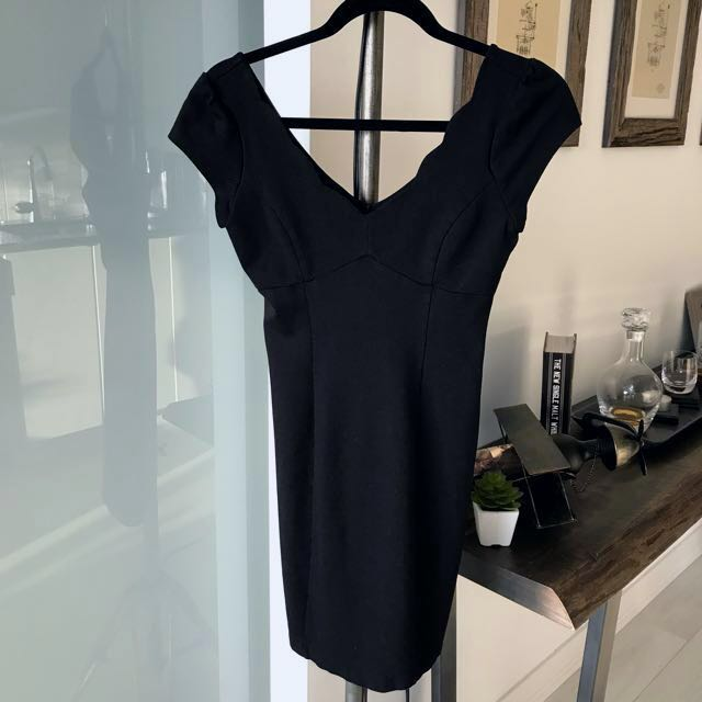 Little Black Dress With Scalloped Neckline