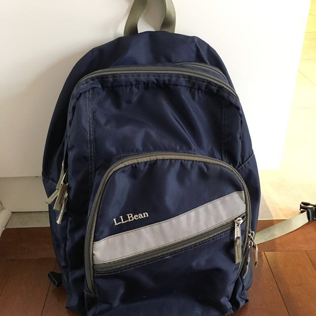 LL Bean Navy Backpack