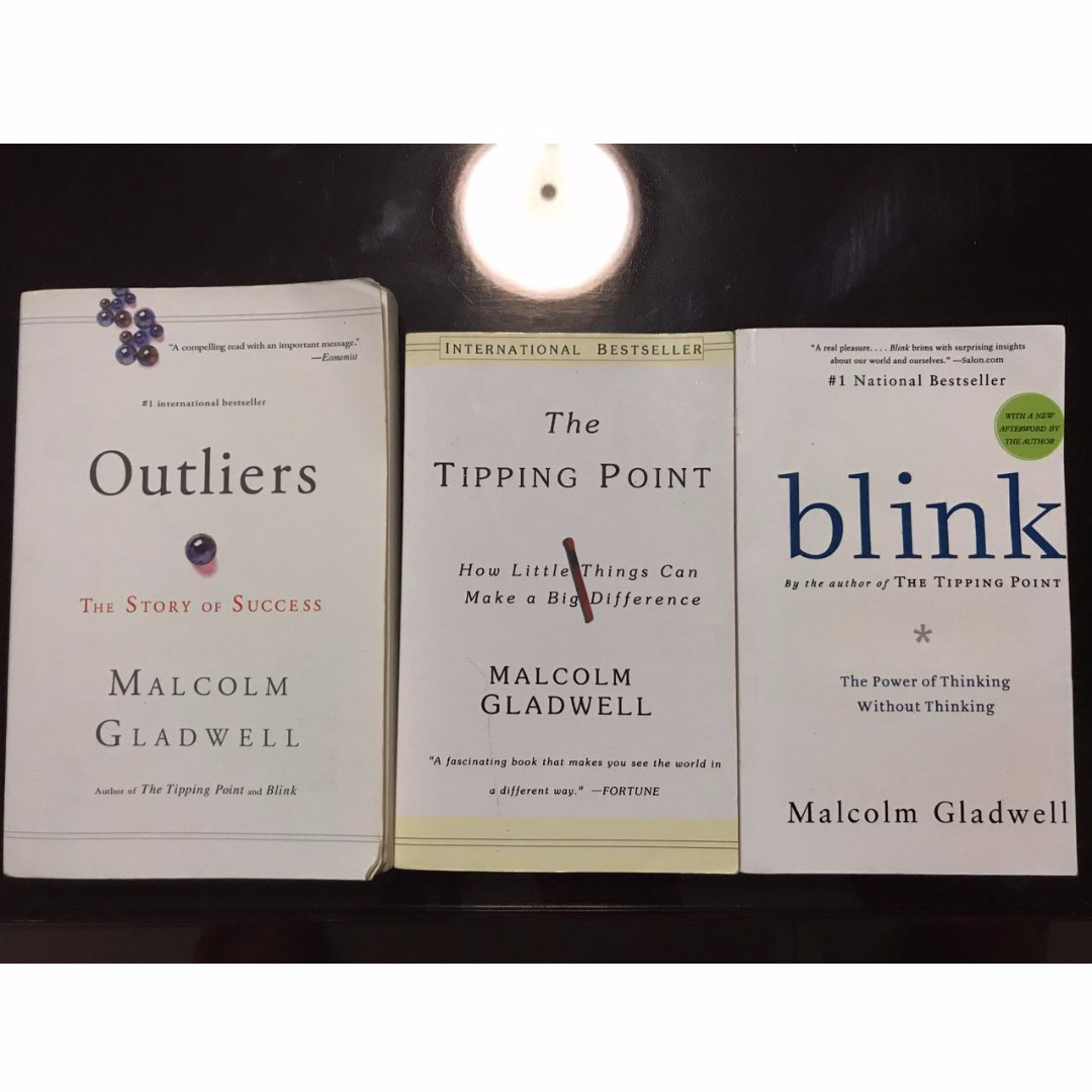 Malcolm gladwells outliers tippling point blink books malcolm gladwells outliers tippling point blink books stationery fiction on carousell fandeluxe Image collections