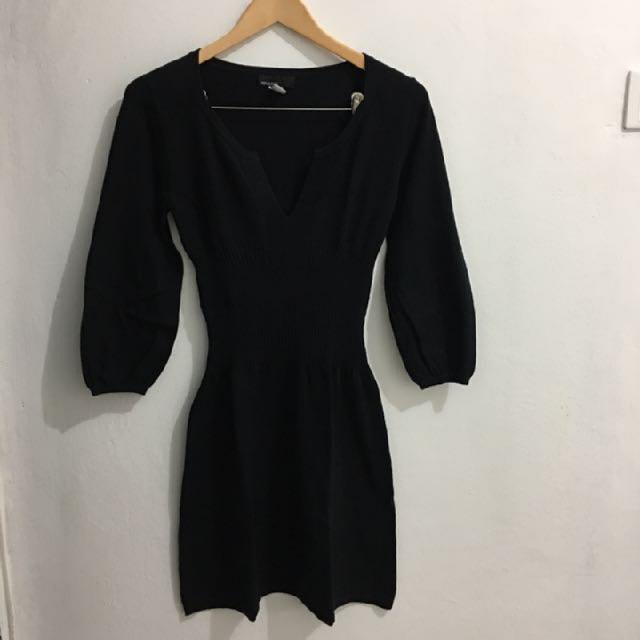 mango basic knit dress