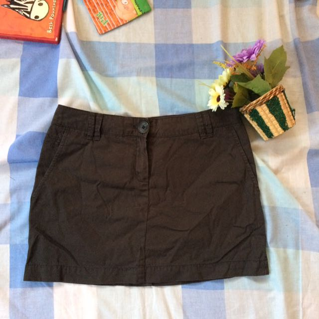 Mango Basic Skirt Olive
