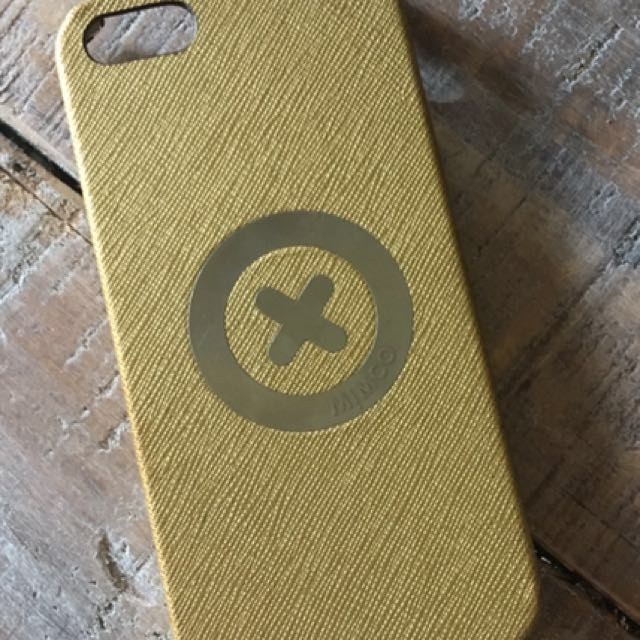 Mimco phone hard case {gold} Iphone5