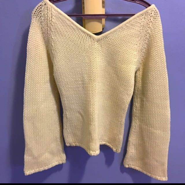 Naf Naf cream pullover
