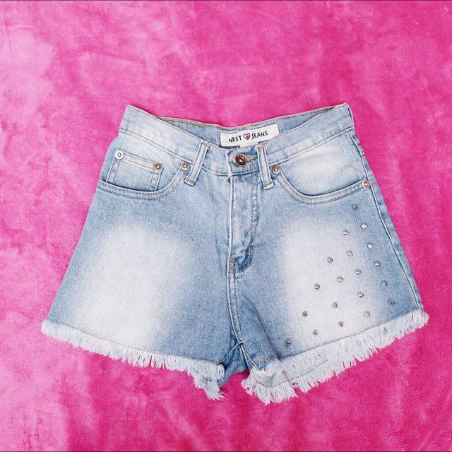 Next Jeans High Waisted Denim Shorts