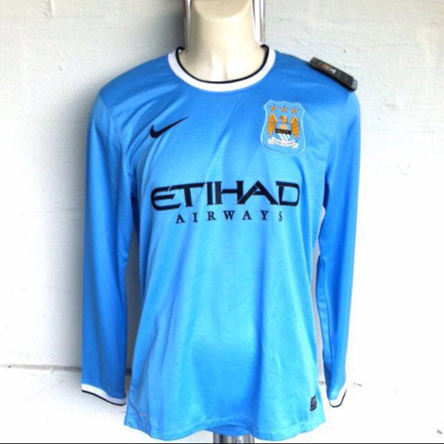 save off cc145 bf52d Nike Manchester City 2013-2014 Long Sleeve Home Kit, Sports ...