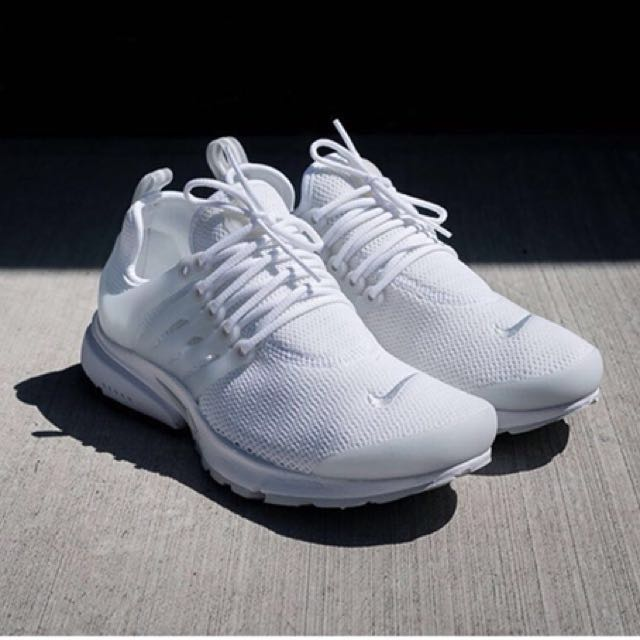 reputable site 6a3d8 ad94d Nike Presto Triple White, Women's Fashion, Shoes on Carousell