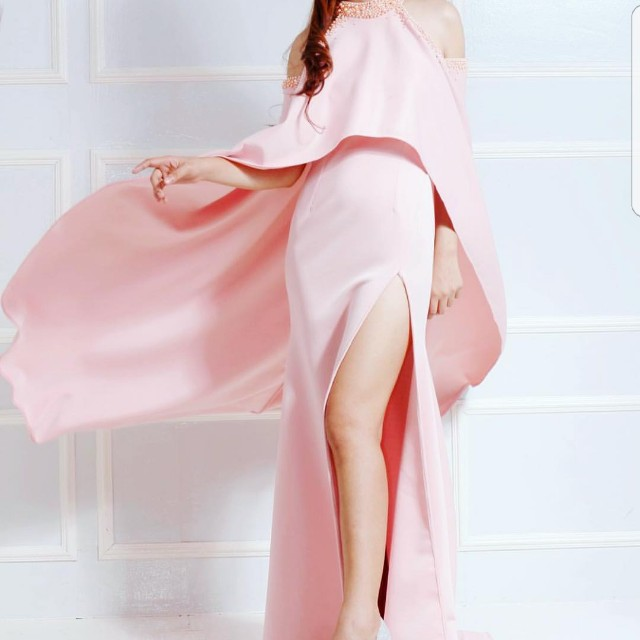 Nude Pink Long Gown