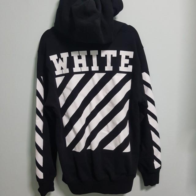 5a79f98e67fdc OFF WHITE replica black plain hoodie