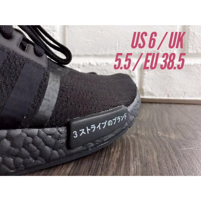 bd0dafca37960 ON-HAND  Adidas NMD R1 PK Japan Black US 6   UK 5.5   EU 38.5 ...