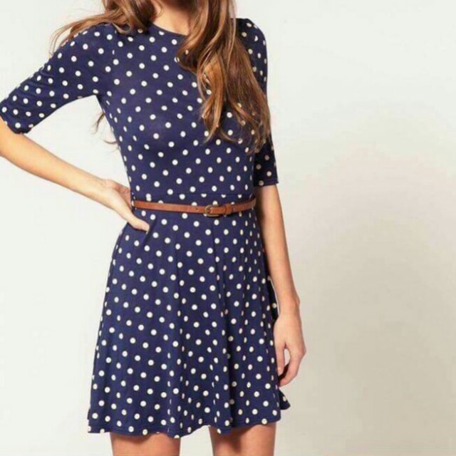 Onhand Polka Belted Dress