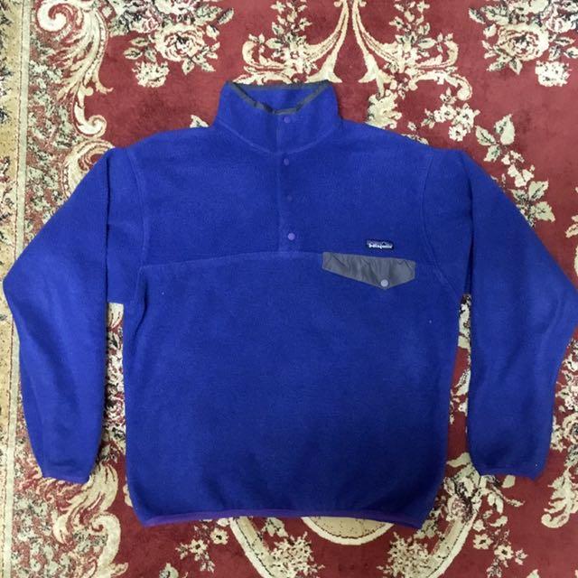 Patagonia Synchilla 刷毛衣 藍色m號
