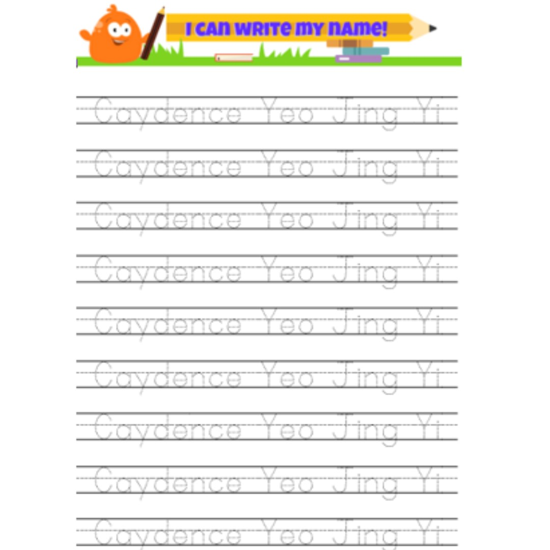 - Penmanship: Name Tracing Worksheet, Home Services, Others On Carousell