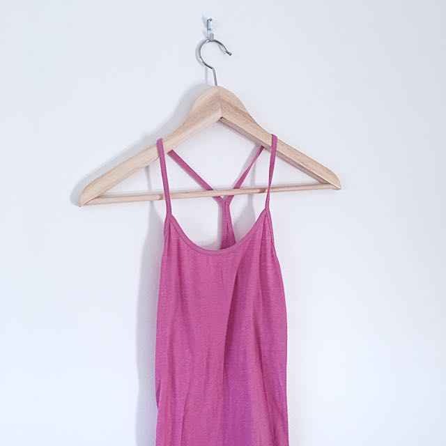 Pink American eagle tank