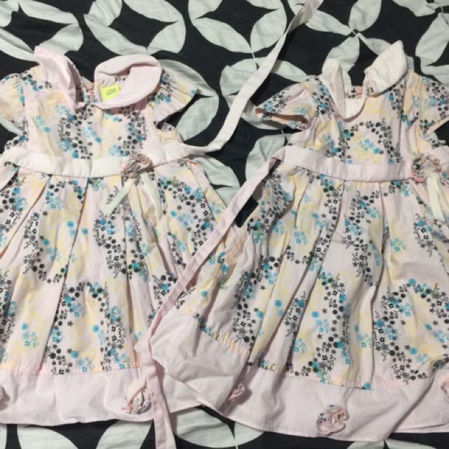 pink printed dresses