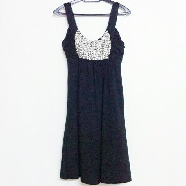[PL] Black Studded Formal Dress