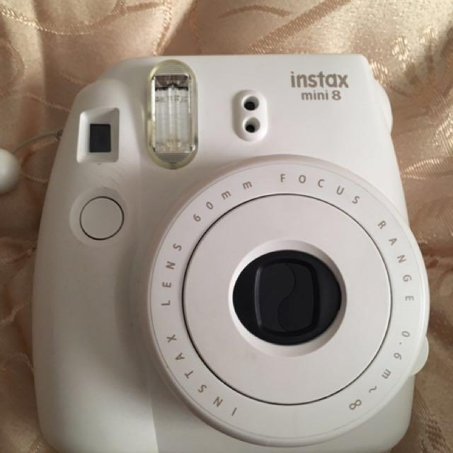 Polaroid Camera With Polka Dots Case