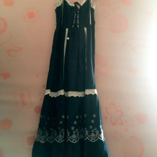 Pre-loved Denim Maxi dress