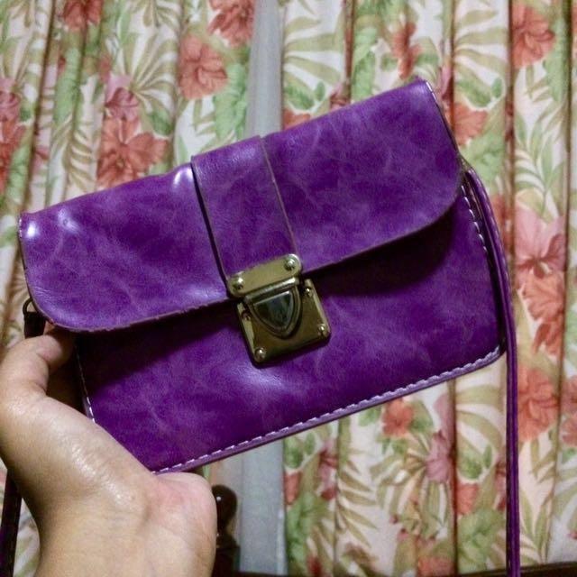 Purple Mini-sling bag