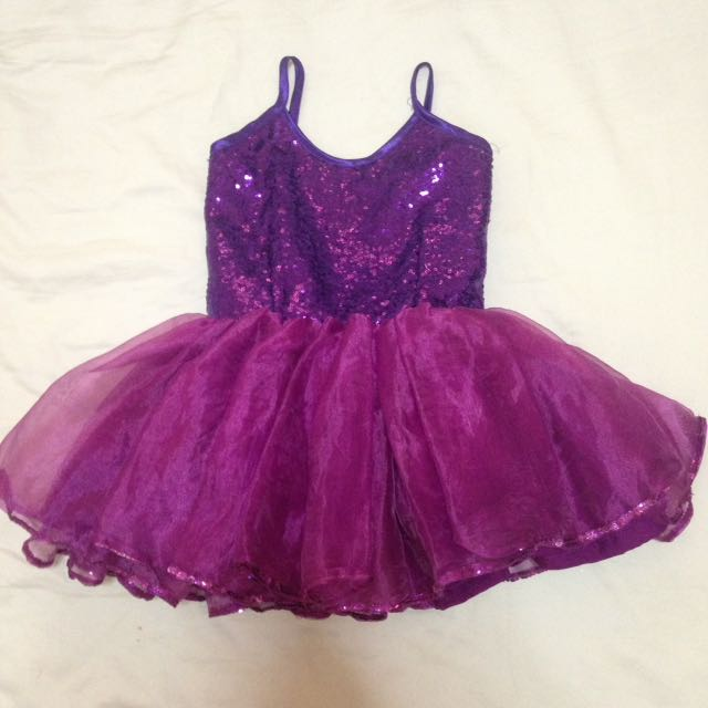 Purple Sequined Formal Gown
