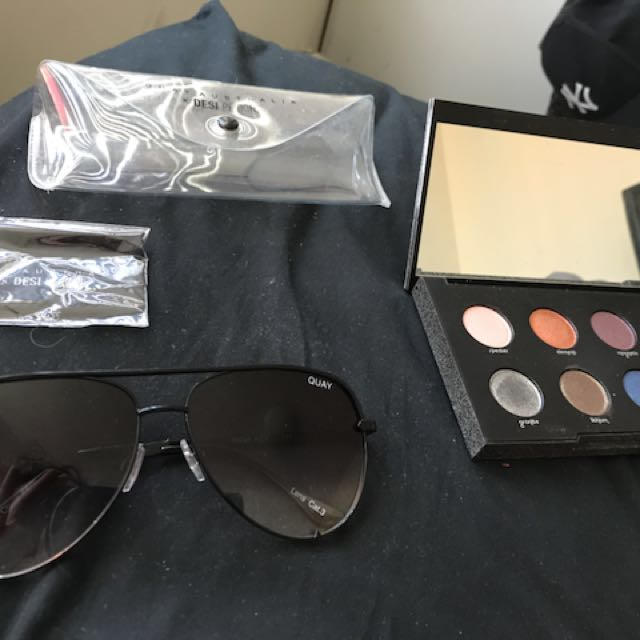 Quay Desi High Key and Urban Decay Moondust Palette