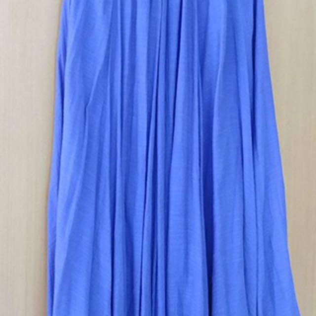 Rok panjang biru bahan super hapus,good quality