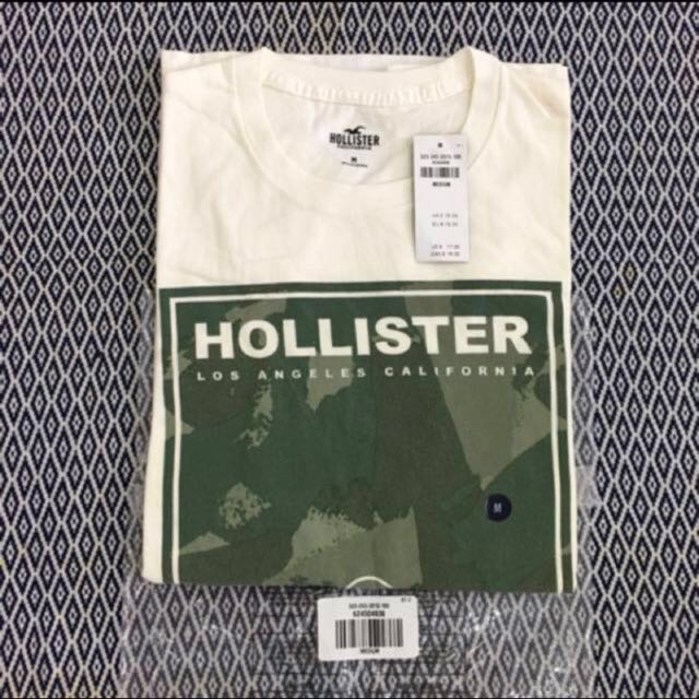 (S) Authentic Hollister Camo Logo Graphic Tee