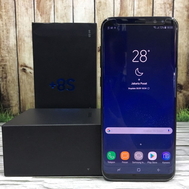 SAMSUNG Galaxy S8 Plus Duos Midnight Black Super Mulhmus masih garansi SEIN July 2018