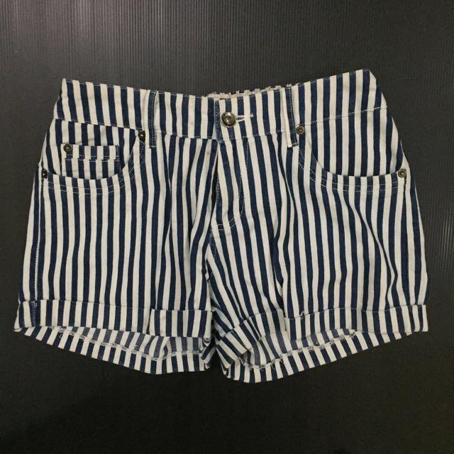 Short jeans biru putih celana pendek perempuan
