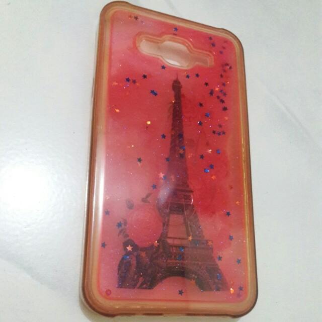 Soft case water glitter edition eiffel for HP samsung J7 - Free ongkir sby/sda