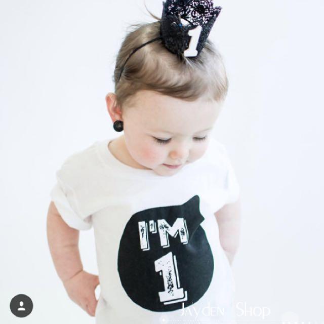54d1da1c ✓️STOCK - I'M 1/ AGE NUMBER BIRTHDAY TOP BABY BOY/GIRL KIDS ...