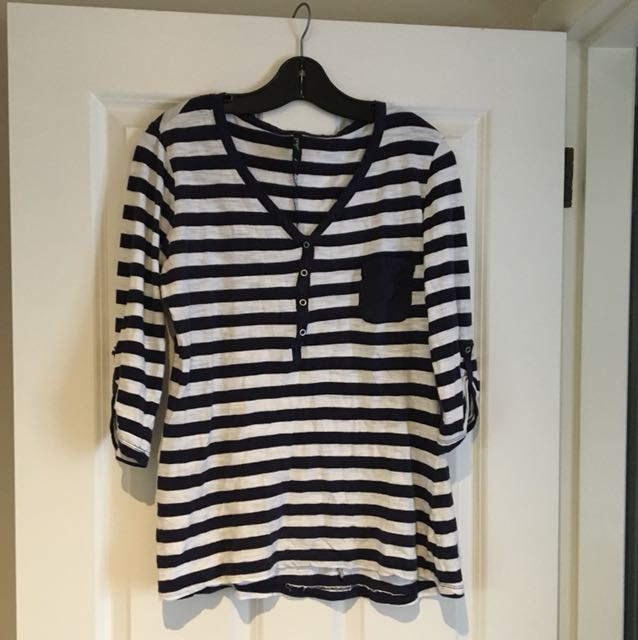 Stripe Shirt 3/4 Sleeve