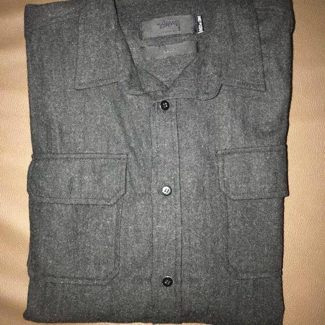 Stussy Original Polyester/wool Shirt Size L