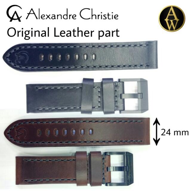 Tali kulit Alexandre Christie Original size 24 mm