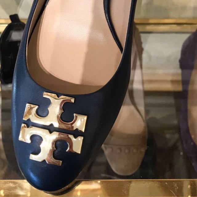 1139c2877e6bf5 Tory Burch Raleigh 40mm pump Calf Leather (Authentic) Blue