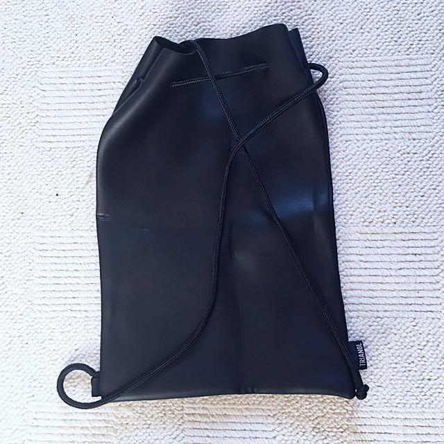 TRIANGLE bikini or day bag leather look
