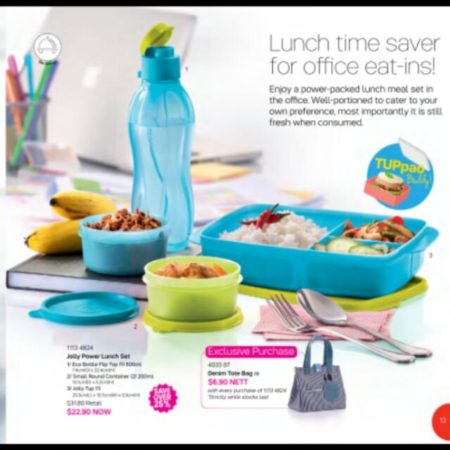 3a8674b5fc0e Last set !! Tupperware Jolly Power Lunch Set   Tupperware Lunch Box ...