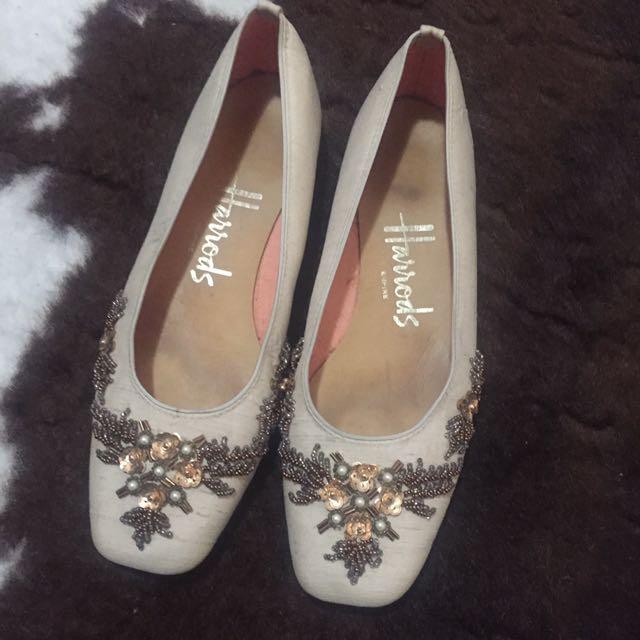 Vintage Harrods flats shoes