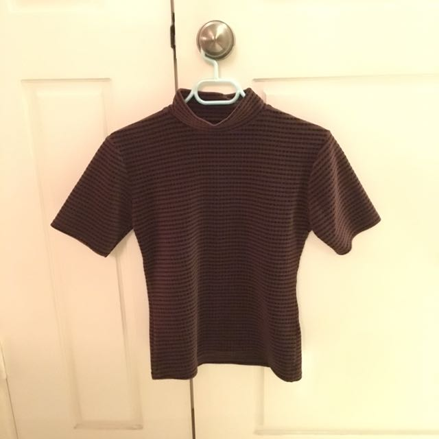 Vintage mock neck top
