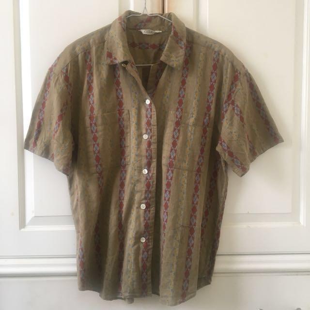 Vintage Printed Shirt