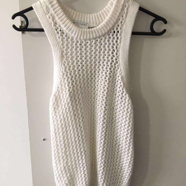 White knitted vest-Witchery