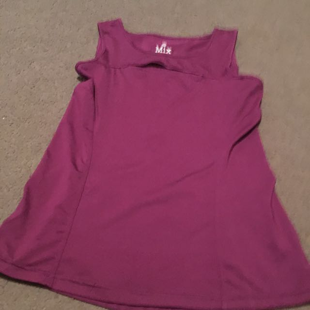 Women's purple active gym top - size s